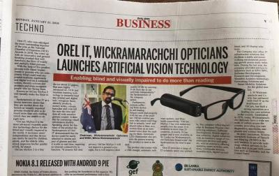 OREl IT, Wickramaarachchi Opticians Launches Artificial Vision Technology
